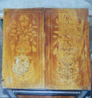Plateau de table avant restauration.