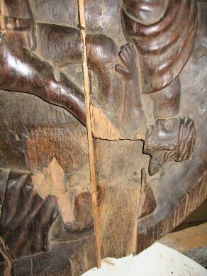 Détail sculpture Atelier Longa restauration