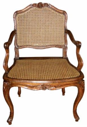 Restauration fauteuil en cannage